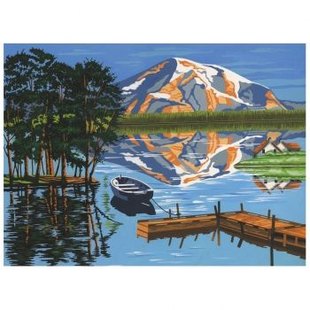 Paint by numbers acrylic kit - Lake