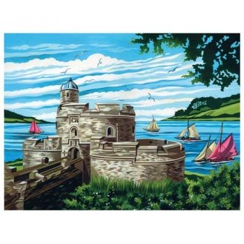 Paint by numbers acrylic kit - Castle on the beach