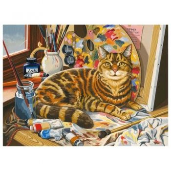 Paint by numbers acrylic kit - Kitten in the studio