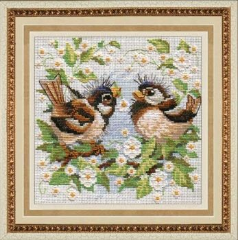 "Cross-stitch kit Zolotie ruchki ""Sparrows"""
