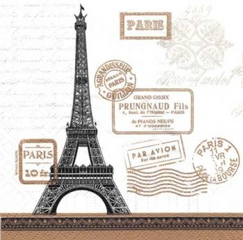 "Napkin for decoupage ""Letters from Paris"""