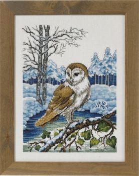"Cross-stitch kit Permin ""Barn owl"""
