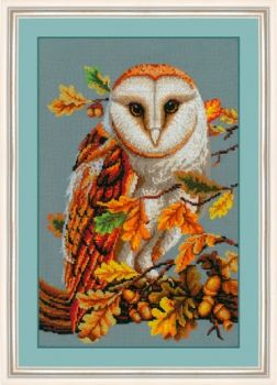 "Cross-stitch kit Golden Hands ""On the autumn oak"""