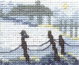 "Cross-stitch kit Permin ""Snow landscape"""
