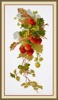 "Cross-stitch kit Ram ""A branch of strawberry"""