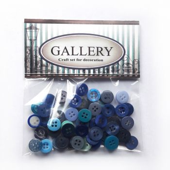 Designer plastic buttons Gallery - Assorted blue
