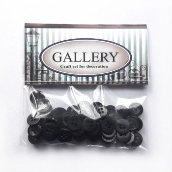 Designer plastic buttons Gallery - Assorted brown