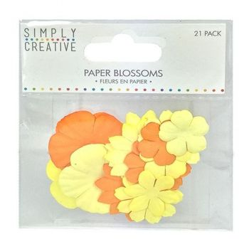 Paper flowers 21 pc. White