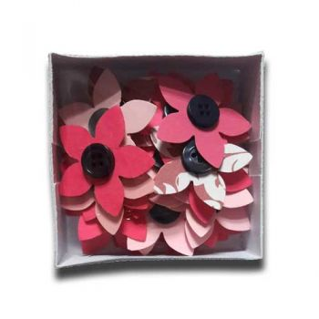 "Paper flowers with button 36 pcs. - ""Late spring"""