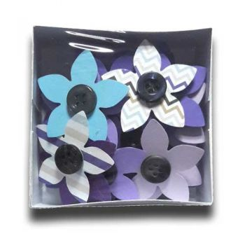 "Paper flowers with button 36 pcs. - ""Summer emotion"""