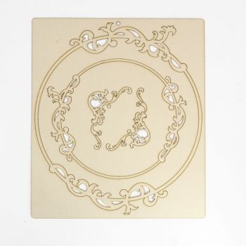 Cardboard frame Circle flower design