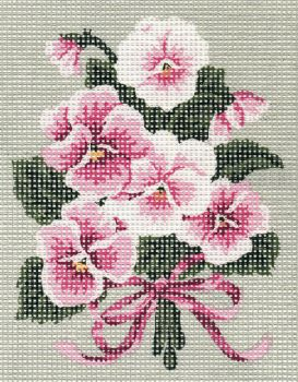 Printed embroidery Orchidea 2360 Naturemort - peaches and cherry