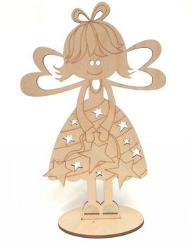 Wooden figure Buratini - Give me a flower for Easter