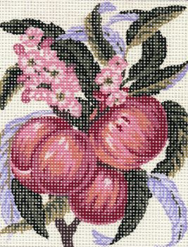Printed embroidery Collection D'Art 3.159 Red Apple
