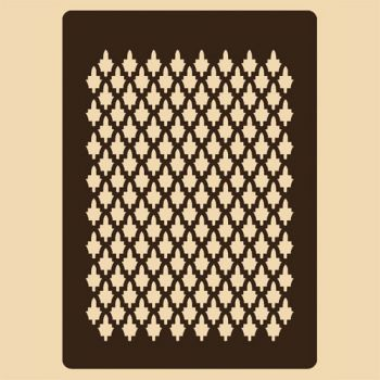 Stencil for decoration - Casablanka trellis, Craftabilia KC2233SL