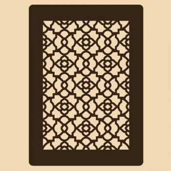 Stencil for decoration - Grenadine grille, Craftabilia KC2237SL