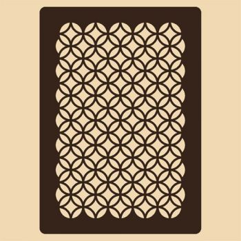 Stencil for decoration - Mamounia grille, Craftabilia KC2238SL