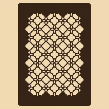 Stencil for decoration - Endless Circles grille, Craftabilia KC2239SL