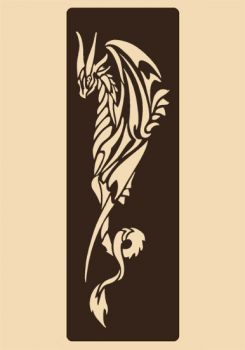 Stencil for decoration - Dragon, Craftabilia KC2231SL