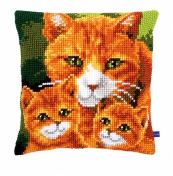 Vervaco cross stitch cushion PN-0150972 Kittens