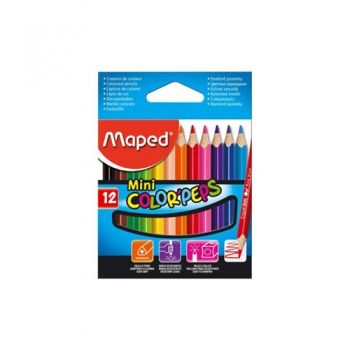 Short Maped Color Peps penciles - 12 colors