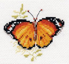 Cross-stitch kit - Alisa 0-147 Yellow butterfly