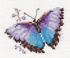 Cross-stitch kit - Alisa 0-148 Orange butterfly