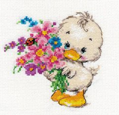 Cross-stitch kit - Alisa 0-136 Talbearded Iris