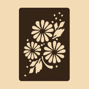 Stencil for decoration - Blossomed Rose, Craftabilia KC2251SL