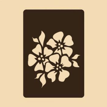 Stencil for decoration - Flower inspiration, Craftabilia KC2254SL
