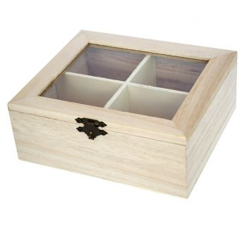 Wooden box with 4 compartments - Chenfei 5022