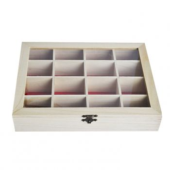 Wooden box with 9 compartments
