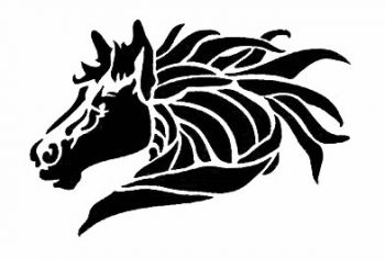 Stencil for decoration - Lively stallion, Craftabilia KC2250SL