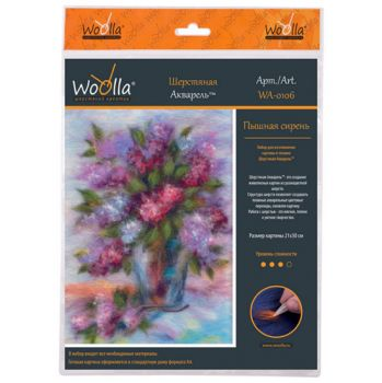 Wool picture Woola WA-0129 - Picturesque poppies