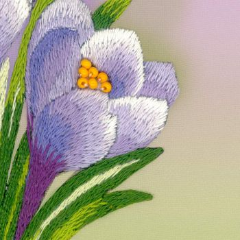 Cross-stitch kit Riolis 0066PT Primrose, satin stitch