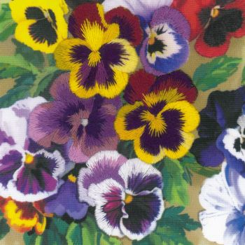 Cross-stitch kit Riolis 0058PT Globe flowers, satin stitch