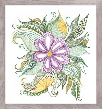 Cross-stitch kit Riolis 0059PT Pansies flowers, satin stitch