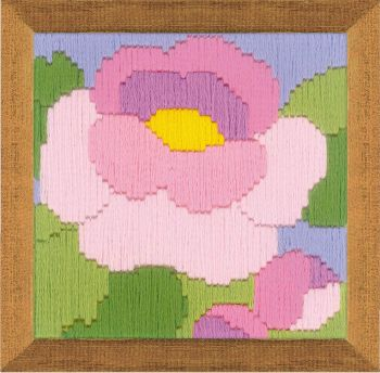 Cross-stitch kit Riolis 1632 Poppy, long stitch