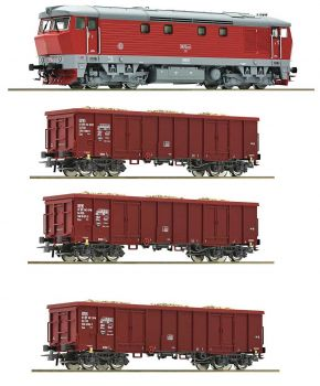 Freight train for fuel set with diesel locomotive BR 115 - DR, TT