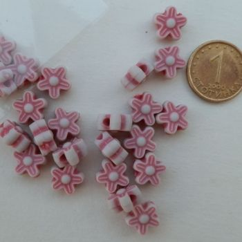 Pink flower beads