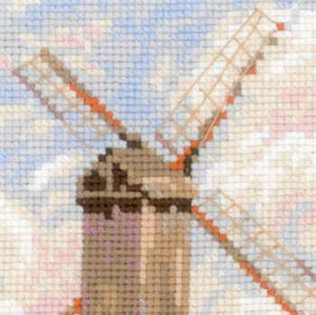 Cross-stitch kit Riolis 1724 Kittens in a basket