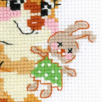 Cross-stitch kit Riolis 1725 Kitten on the book
