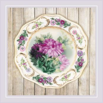 Goblen Riolis 0075PT Plate with pink Poppy