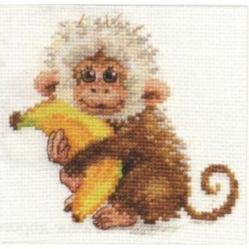 Cross-stitch kit - Alisa 0-130 Duckling with flowers