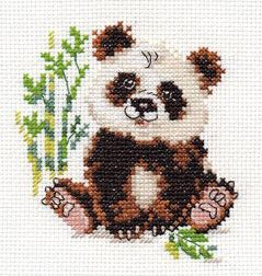 Cross-stitch kit - Alisa 0-127 Monkey with banana