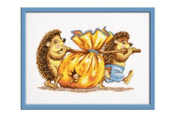 "Cross-stitch kit Ram 806 ""The branch of lilac"""