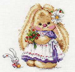 "Cross-stitch kit ""Basik & Milena. Little guests"" - Alisa 0-177"