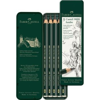 Faber-Castell pencil  kit Goldfaber - 6 pencils + eraser and sharpener