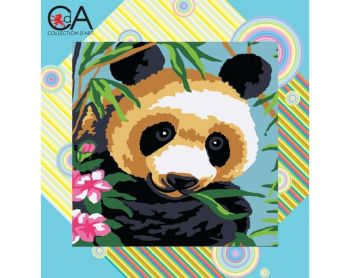 Printed embroidery Collection D'Art 4011K - Panda in bamboo