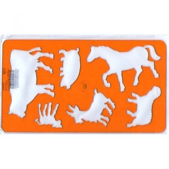 Plastic stencil Domestic animals